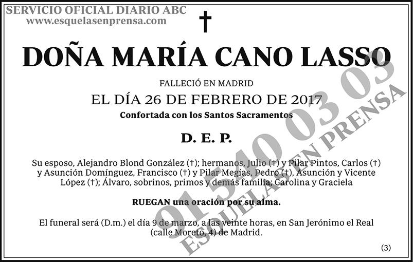 María Cano Lasso